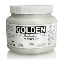Golden Heavy Body Acrylic Neutral Gray N8 32 oz
