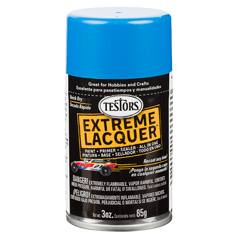 Testors Extreme (one coat) Spray Lacquer 3 oz - Icy Blue