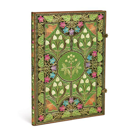 "Paperblanks Journal - Poetry in Bloom Unlined Grande 8.25"" X 11.75"" - 128 Pages"