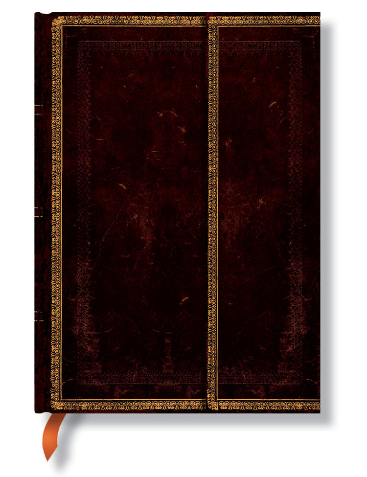 "Paperblanks Journal - Black Moroccan Midi Unlined 5"" X 7"""