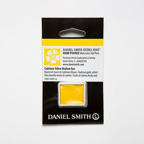 Daniel Smith Extra Fine Watercolor Half Pan - Cadmium Yellow Medium Hue