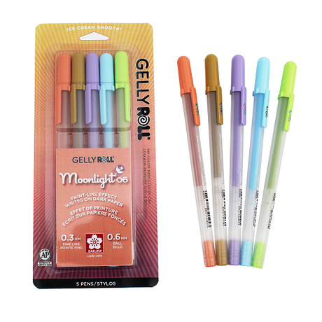 Gelly Roll Moonlight Fine 06 - 5 color Daylight Set