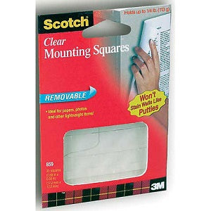 Scotch 859 Clear Removable Mounting Squares