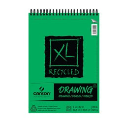 Canson XL Recycled Drawing Pad - Wirebound 9X12