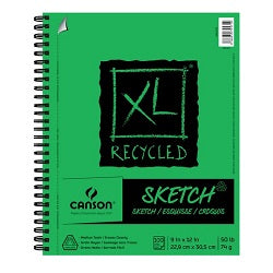 XL Recycled Sketch Pad - Side Wirebound 9X12