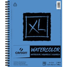 "Canson XL Watercolor Side Wire-Bound Pad - 30 Sheets 9"" X 12"""