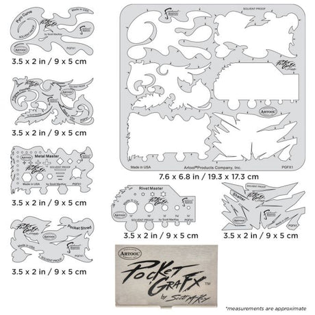 Artool PocketGraFX Freehand Airbrush Template Set by Scott MacKay