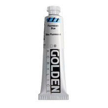 Golden Heavy Body Acrylic Fluorescent Blue 2 oz