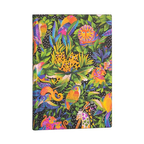 "Paperblanks Flexi Jungle Song Midi 5""x 7""  Lined-  176 Pages"