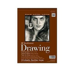 Strathmore 400 Series Drawing Pad - Medium Surface 80 lb  9X12