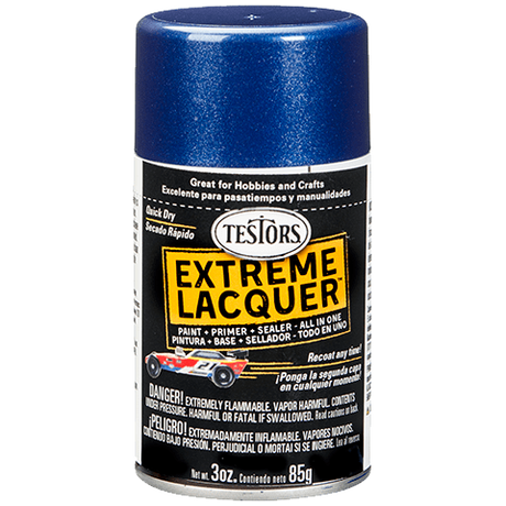 Testors Extreme (one coat) Spray Lacquer 3 oz - Deja Blue (ORM-D)