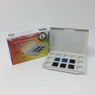 Daniel Smith Extra Fine Watercolor 6 Half Pan Set - The Blues