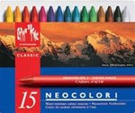 Caran d'Ache Neocolor I (Water Resist) Artist Crayons - set of 15