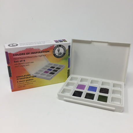 Daniel Smith Watercolor 6 Half Pan Set, Colors of Inspiration Set with Package
