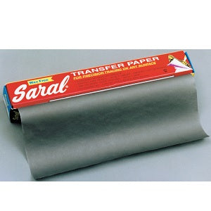 Saral Transfer Paper - 12 inch by 12 ft roll - Graphite (gray)
