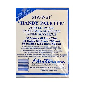 "Replacement papers for Masterson #857 Handy Palette (8.5"" X 7"")"