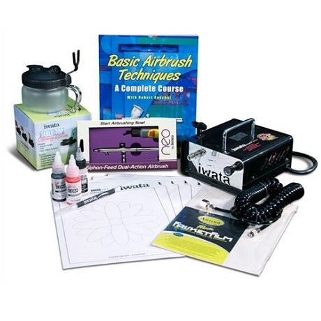 Iwata Airbrush Beginner Set (with NEO BCN Siphon Feed)