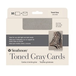 "Strathmore Cards with Envelopes - Toned Gray Paper - 5"" X 6.875"" 10 Pack"