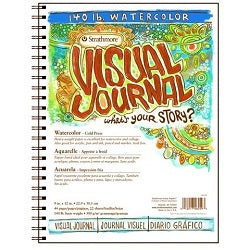 Strathmore Visual Journal - 140 lb Watercolor - 9X12