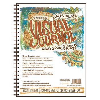 "Strathmore Visual Journal - Smooth Bristol - 28 Sheet Pad 9"" x 12"""
