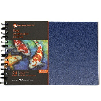"Handbook Field Watercolor Journal - 24 Sheets 140 lb Wire-Bound - 7"" x 10"""