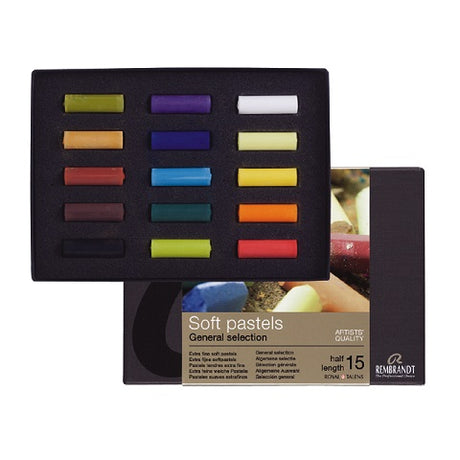 Rembrandt Artists Pastel  Set of 15 half Sticks