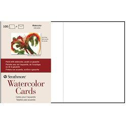 "Strathmore Watercolor Cards 5"" x 7"" with Envelopes 100 Pack"
