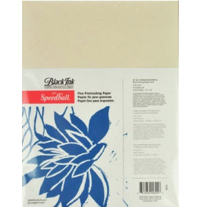 "Speedball Unbleached Mulberry Block Printing Paper 9""X12"" 25 Pack"