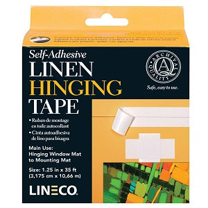 "Linen Hinging Tape - Self Adhesive 1 1/4"" X 400"" Black"