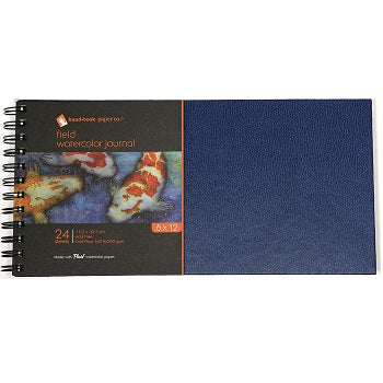 "Handbook Field Watercolor Journal - 24 Sheets, 140 lb, Wire-Bound - 6"" x 12"""
