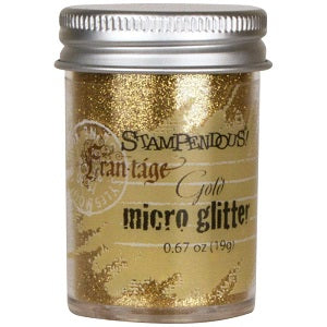 Stampendous Frantage Micro Glitter .67 oz - Gold