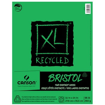 "Canson XL Recycled Bristol - 25 Sheet Pad - 11""X14"""