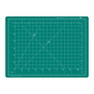Self-Healing Cutting Mat - Double Sided - Green/Black 9X12