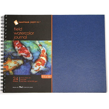 "Handbook Field Watercolor Journal - 24 Sheets ,140 lb, Wire-Bound - 11"" x 14"""