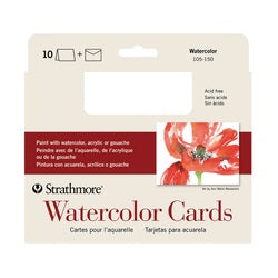 "Strathmore Watercolor Cards with Envelopes 5"" X 6.875"" 10 Pack"