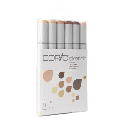 Copic Sketch Marker 6 Piece Skin Tones Set #1