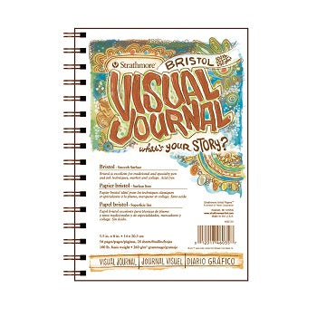 "Strathmore Visual Journal - Smooth Bristol - 28 Sheet Pad 5.5"" x 8"""