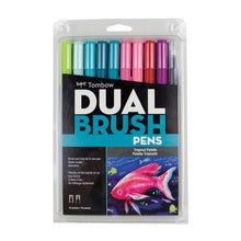 Tombow Dual Brush Marker Set of 10 - Tropical Colors