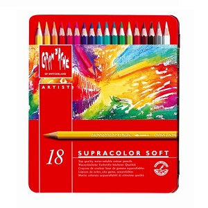 Caran D'Ache Supracolor Water Soluble Colored Pencils Set of 18