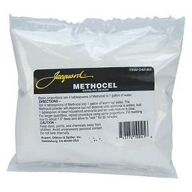 Methocel thickener for dyeing and marbling