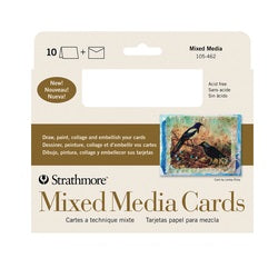 "Strathmore Cards with Envelopes - Mixed Media - 5"" X 6.875"" 10 Pack"