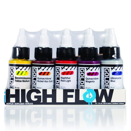 Golden High Flow Acrylic 10 Color Assorted Set