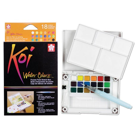 Koi Watercolor 18 color pocket set