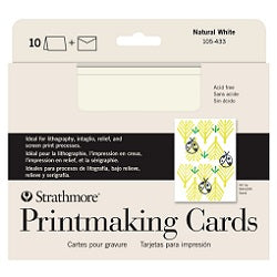 "Strathmore Creative Cards with Envelopes - Printmaking Full Size 5"" x 6.875"" - Pack of 10"