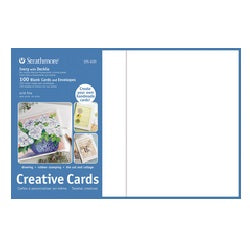 "Strathmore Creative Cards 5"" X 6.875"" with Envelopes - Ivory Deckled Edge - 100 Pack"
