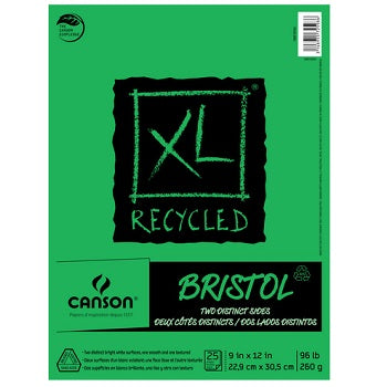"Canson XL Recycled Bristol - 25 Sheet Pad -  9""X12"""