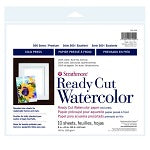 "Strathmore 500 Series Cold Press Watercolor Paper - Ready Cut Sheets 8"" X 10"" - 10 Pack"