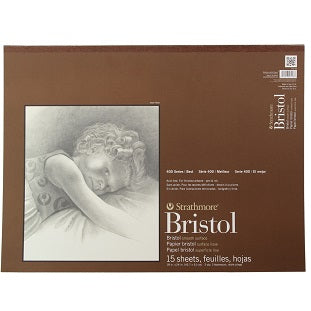 Strathmore 400 Series Smooth Bristol - 15 Sheet Pad - 18X24