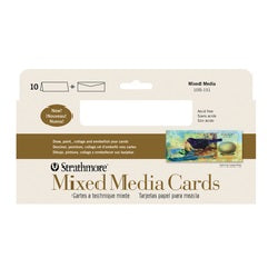 "Strathmore Mixed Media Slim Size Cards with Envelopes - 3.875"" X 9"" 10 Pack"