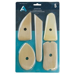 Wooden Rib Tool Set - 5 Piece